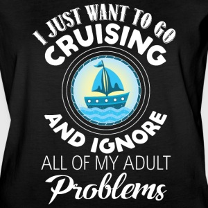 I Just Want To Go Cruising T Shirt - Women's Vintage Sport T-Shirt