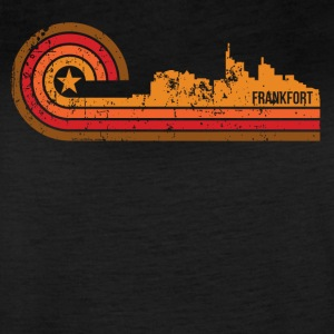 Retro Style Frankfort Kentucky Skyline Distressed - Women's Vintage Sport T-Shirt
