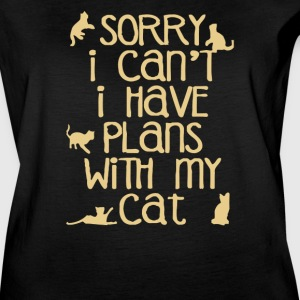 Sorry I Can't I Have Plans With My Cats - Women's Vintage Sport T-Shirt
