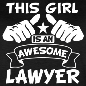 This Girl Is An Awesome Lawyer - Women's Vintage Sport T-Shirt