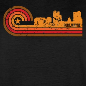 Retro Style Fort Wayne Indiana Skyline Distressed - Women's Vintage Sport T-Shirt