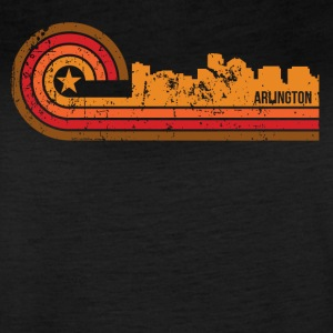 Retro Style Arlington Virginia Skyline Distressed - Women's Vintage Sport T-Shirt