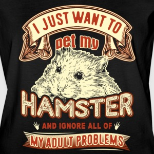 I JUST WANT TO PET MY HAMSTER SHIRT - Women's Vintage Sport T-Shirt