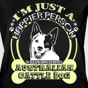 WHEN I'M WITH MY AUSTRALIAN CATTLE DOG T-SHIRT - Women's Vintage Sport T-Shirt