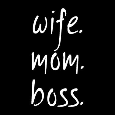Black Vintage Style Wife Mom Boss