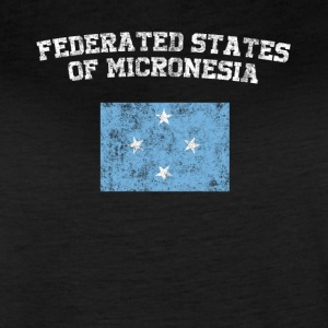 The federated States of Micronesia Flag Shirt - V - Women's Vintage Sport T-Shirt