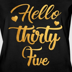 Hello Thirty Five 35th Birthday Shirt - Women's Vintage Sport T-Shirt