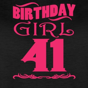 Birthday Girl 41 years old - Women's Vintage Sport T-Shirt
