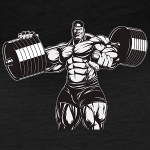 Strongman bodybuilder muscles shape vector sport - Women's Vintage Sport T-Shirt