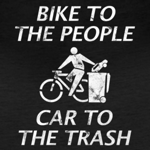BIKE TO THE PEOPLE CAR TO THE TRASH - Women's Vintage Sport T-Shirt