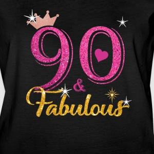 90 Fabulous Queen Shirt 90th Birthday Gifts - Women's Vintage Sport T-Shirt