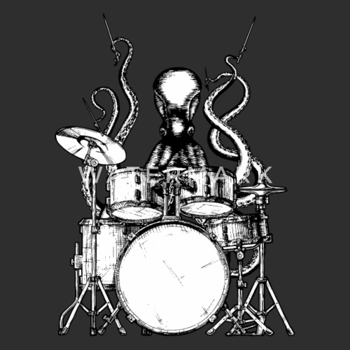 Octopus plays Drums Women s Vintage Sport T-Shirt  1010dbee1