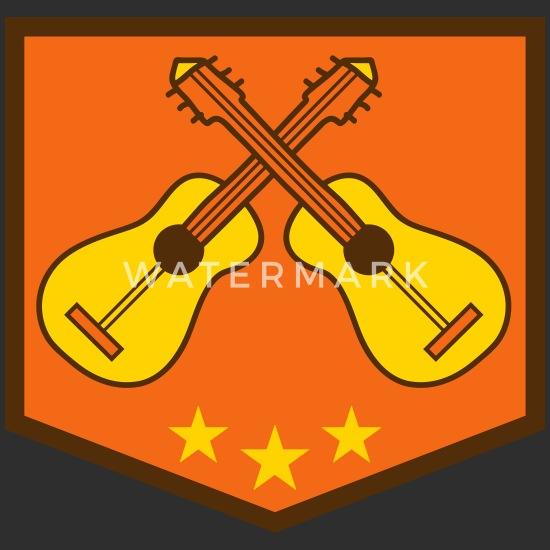 Banner Shield 2 Guitars Logo Team Band Guitar Lear Women S Vintage Sport T Shirt Spreadshirt