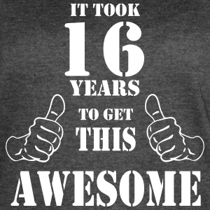 16th Birthday Get Awesome T Shirt Made in 2001 - Women's Vintage Sport T-Shirt