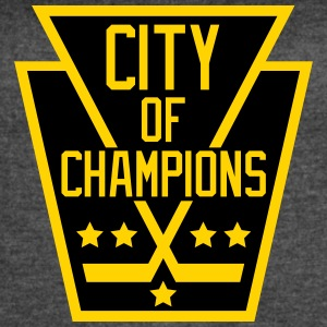 City of Champions - Black and Gold - Women's Vintage Sport T-Shirt