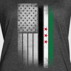 Syrian American Flag - Women's Vintage Sport T-Shirt