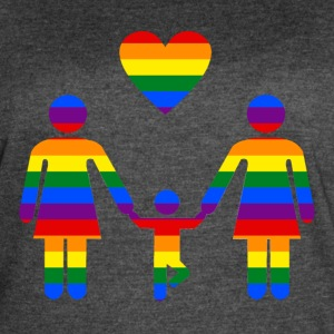 Rainbow Family lesbian family from Bent Sentiments - Women's Vintage Sport T-Shirt