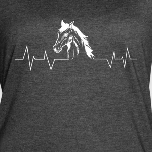 Horse heartbeat head - Women's Vintage Sport T-Shirt