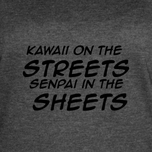 Kawaii On The Streets Senpai In The Sheets - Women's Vintage Sport T-Shirt