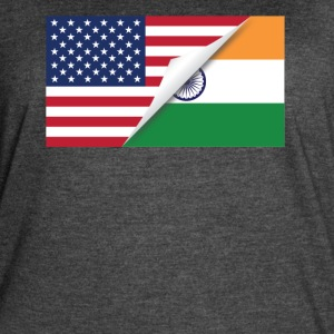 Half American Half Indian Flag - Women's Vintage Sport T-Shirt