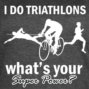 triathlons design - Women's Vintage Sport T-Shirt