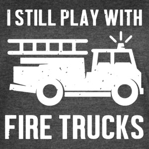 Play With Firetrucks Shirt - Women's Vintage Sport T-Shirt