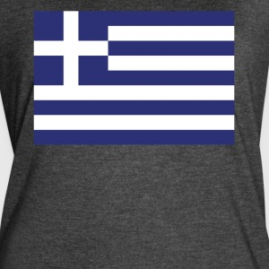 Flag of Greece Cool Greek Flag - Women's Vintage Sport T-Shirt
