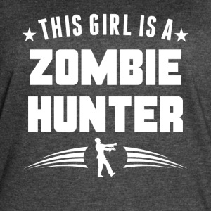This Girl Is A Zombie Hunter Funny Zombie - Women's Vintage Sport T-Shirt
