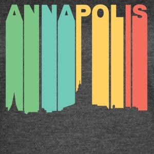 Retro 1970's Style Annapolis Maryland Skyline - Women's Vintage Sport T-Shirt