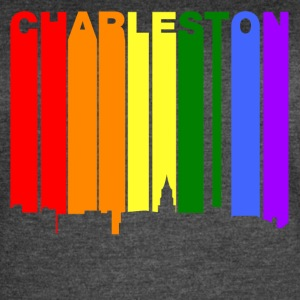 Charleston South Carolina Gay Pride Skyline - Women's Vintage Sport T-Shirt
