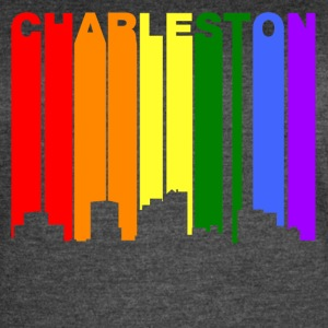 Charleston West Virginia Gay Pride Skyline - Women's Vintage Sport T-Shirt