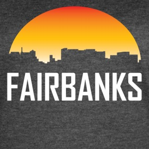 Fairbanks Alaska Sunset Skyline - Women's Vintage Sport T-Shirt
