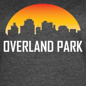 Overland Park Kansas Sunset Skyline - Women's Vintage Sport T-Shirt