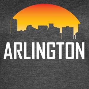 Arlington Texas Sunset Skyline - Women's Vintage Sport T-Shirt