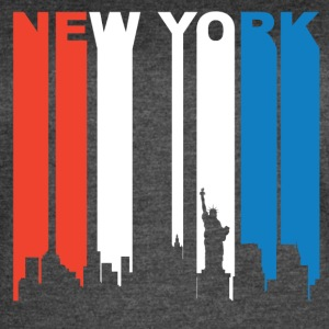 Red White And Blue New York City Skyline - Women's Vintage Sport T-Shirt