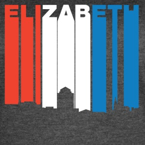 Red White And Blue Elizabeth New Jersey Skyline - Women's Vintage Sport T-Shirt
