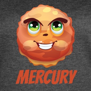 Cartoon Planet Mercury - Women's Vintage Sport T-Shirt