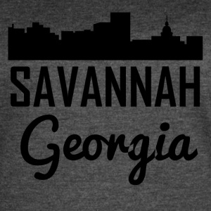 Savannah Georgia Skyline - Women's Vintage Sport T-Shirt