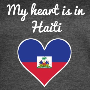 My Heart Is In Haiti - Women's Vintage Sport T-Shirt