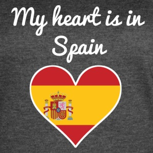 My Heart Is In Spain - Women's Vintage Sport T-Shirt