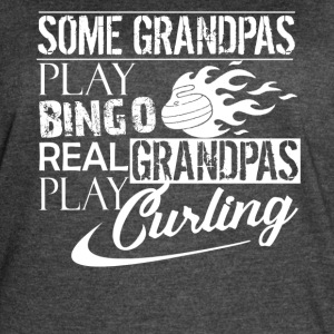 Real Grandpas Play Curling - Women's Vintage Sport T-Shirt