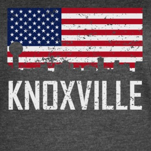 Knoxville Tennessee Skyline American Flag - Women's Vintage Sport T-Shirt