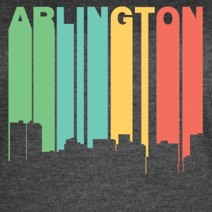 Retro 1970's Style Arlington Texas Skyline - Women's Vintage Sport T-Shirt