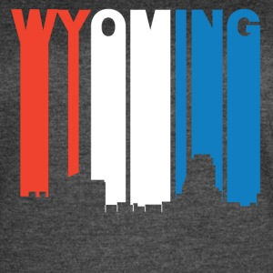 Red White And Blue Wyoming Michigan Skyline - Women's Vintage Sport T-Shirt