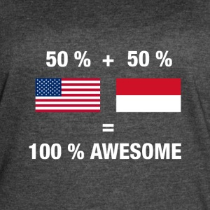 Half Indonesian Half American 100% Indonesia Flag - Women's Vintage Sport T-Shirt