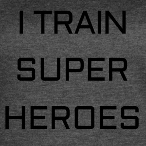 I TRAIN SUPER HEROES - Women's Vintage Sport T-Shirt