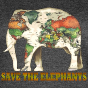 Save The Elephants World Map - Women's Vintage Sport T-Shirt