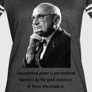 Milton Friedman Concentrated Power - Women's Vintage Sport T-Shirt