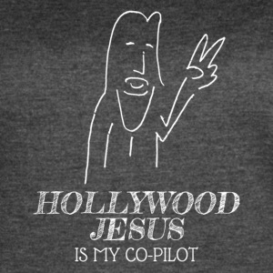 Hollywood Jesus Vertical (Light) - Women's Vintage Sport T-Shirt
