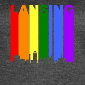 Lansing Michigan Rainbow LGBT Gay Pride - Women's Vintage Sport T-Shirt